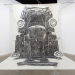 Joshua Callaghan - Focus, 2012, Charcoal on Linen, 20 x 26 ft