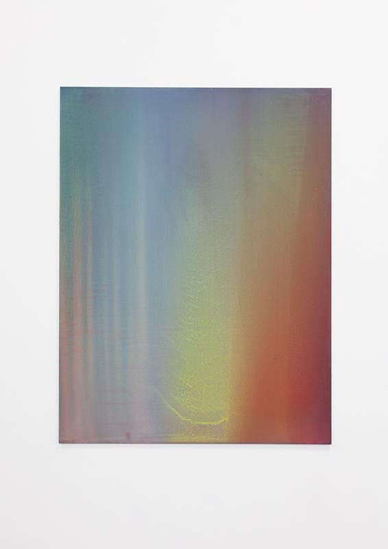 Jed Ochmanek - Polarity, 2014, Oil on Aluminum, 36 x 48 in