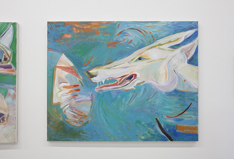 Rachel Rosenthal - Implicate Order, 2007, Oil on Canvas, 8 x 60 in