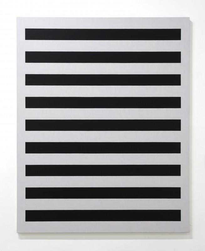 Edith Baumann  - Black/Green #3, 1986, Acrylic on Canvas, Gift of the Artist
