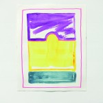 Sheila Khatani - Sun Travels sk II + VII - IX, 2014, Acrylics, Vinyl on Paper, 31 x 25 cm