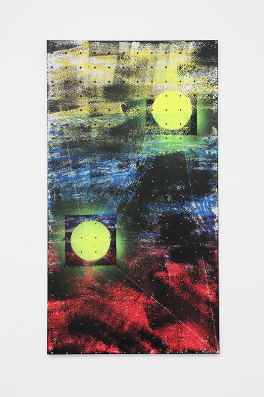 Shila Khatami - Sun Travels sk II + VII-IX, 2014, Acrylics, Vinyl on Paper, 31 x 25 cm