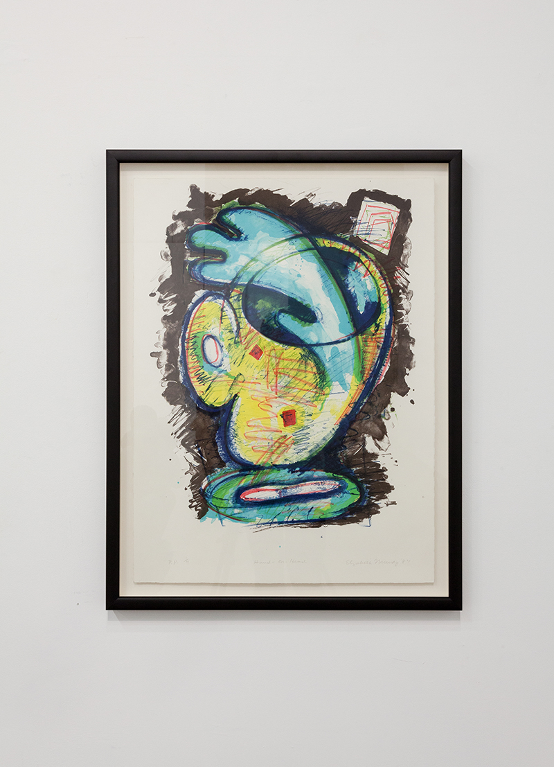 Elizabeth Murray - Hand on Head, 1984, Lithograph, Gift of Taco Bell