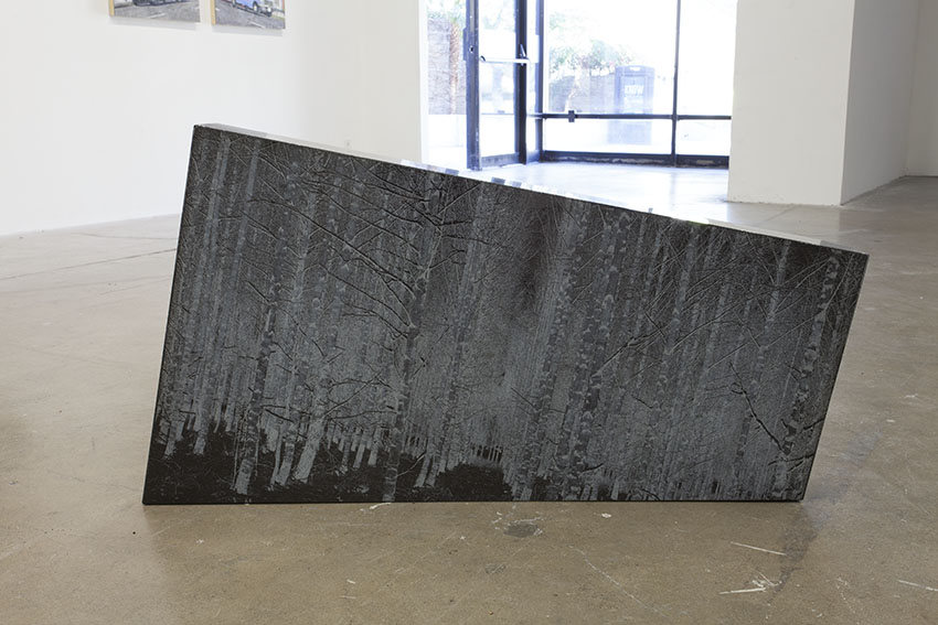 "Jenny Yurshansky- Succession, 2016, Premium black granite, laser etched surface, 41"" x 24"" x 5.5"""