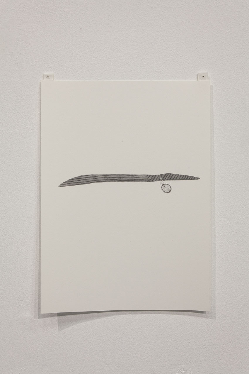 Gala Porras-Kim - One wooden shard, 2016, Graphite on paper
