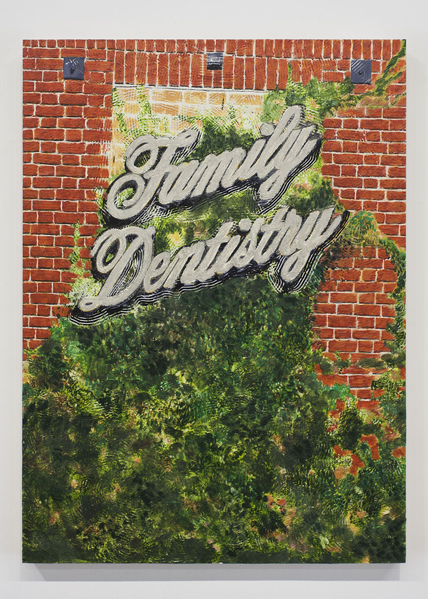 Katie Herzog and Andrew Choate - Family Dentistry/Thoroughbred Narcisstry, 2016, Encaustic and oil on panel, 50 x 36 in